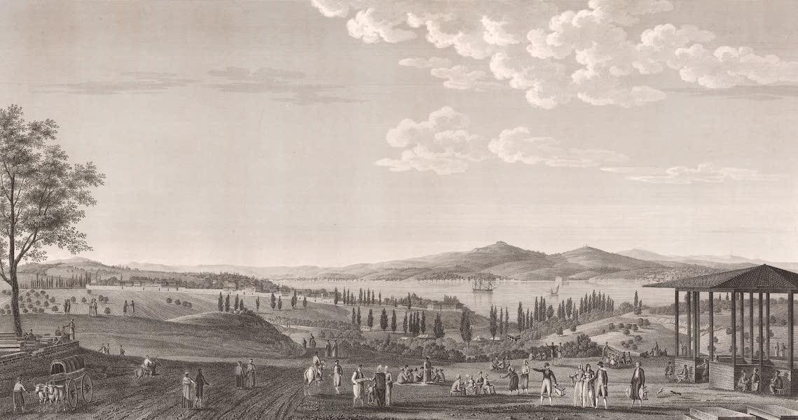 Voyage Pittoresque de Constantinople et des Rives du Bosphore Vol. 2 - No. 26. Vue du Champ des Morts, près de Péra (1819)