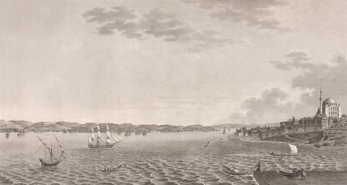 Voyage Pittoresque de Constantinople et des Rives du Bosphore Vol. 2 - No. 27. Vue de l'entrée du Bosphore et d'une partie de la ville de Scutari, prise de la tour de Léandre (1819)