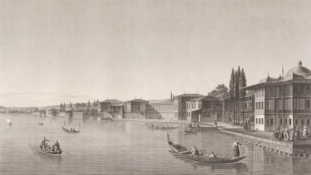 Voyage Pittoresque de Constantinople et des Rives du Bosphore Vol. 2 - No. 28. Palais de Beschik-Tasch, séjour habituel du Grand-Seigneur pendant l'été (1819)