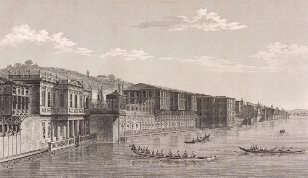 Voyage Pittoresque de Constantinople et des Rives du Bosphore Vol. 2 - No. 29. Palais de la sultane Hadidgé, à Defterdar-Bournou (1819)