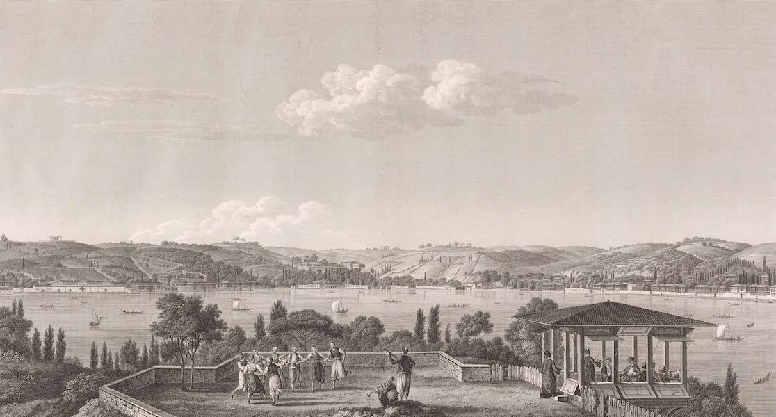 Voyage Pittoresque de Constantinople et des Rives du Bosphore Vol. 2 - No. 33. Troisième vue du Bosphore, prise à Kandilly (1819)