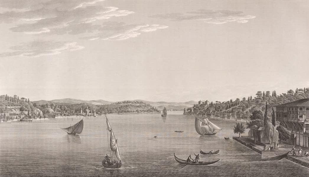 Voyage Pittoresque de Constantinople et des Rives du Bosphore Vol. 2 - No. 34. Vue des anciens châteaux d'Europe et d'Asie, sur le point le plus étroit du Bosphore (1819)
