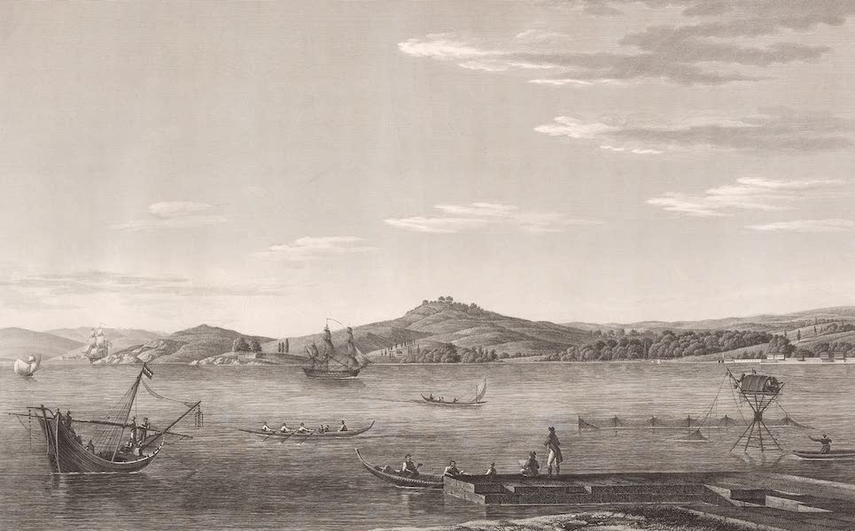 Voyage Pittoresque de Constantinople et des Rives du Bosphore Vol. 2 - No. 35. Vue de Hounkiar-Iskelesi, échelle du Grand-Seigneur (1819)