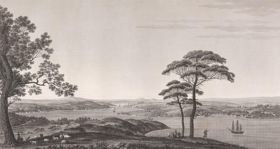 Voyage Pittoresque de Constantinople et des Rives du Bosphore Vol. 2 - No. 36. Vue générale du Bosphore, prise de la montagne du Géant (1819)