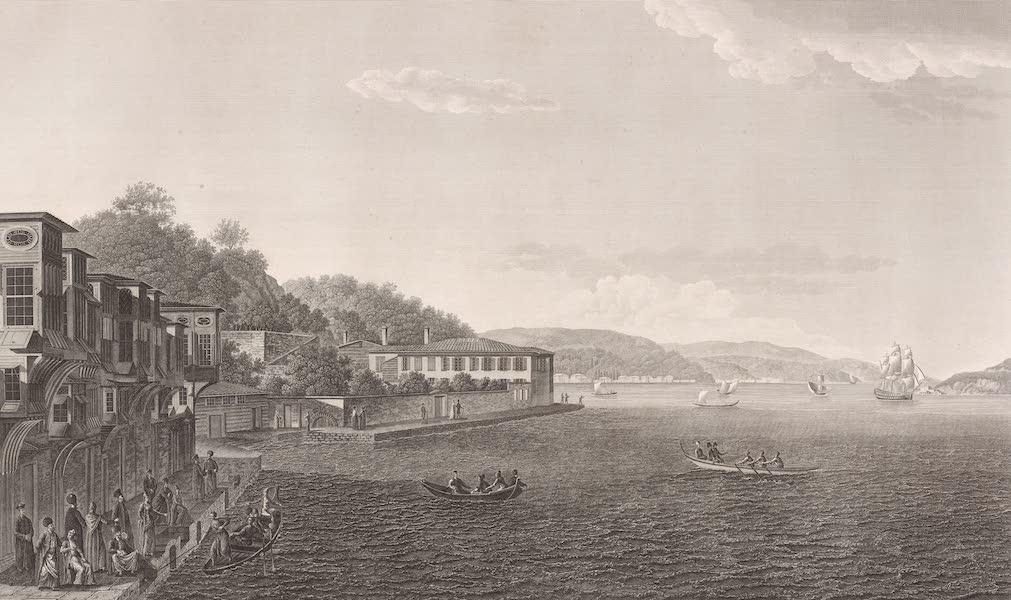 Voyage Pittoresque de Constantinople et des Rives du Bosphore Vol. 2 - No. 37. Vue du village de Tarapia, sur la rive européenne du Bosphore (1819)