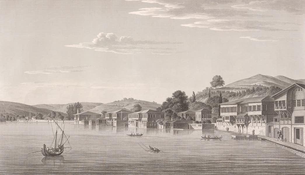 Voyage Pittoresque de Constantinople et des Rives du Bosphore Vol. 2 - No. 40. Vue de la partie occidentale du village de Buyuk-Déré, sur la rive européenne du Bosphore (1819)