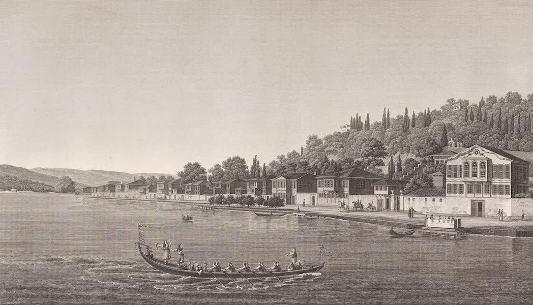 Voyage Pittoresque de Constantinople et des Rives du Bosphore Vol. 2 - No. 41. Vue de la partie centrale du village de Buyuk-Déré, sur la rive européenne du Bosphore (1819)