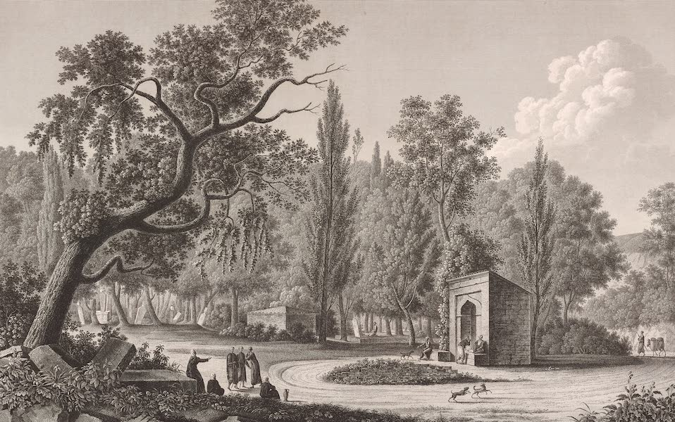 Voyage Pittoresque de Constantinople et des Rives du Bosphore Vol. 2 - No. 43. Fontaine de Sari-Yéri, près de Buyuk-Déré (1819)