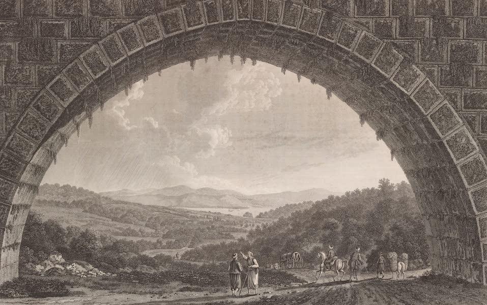 Voyage Pittoresque de Constantinople et des Rives du Bosphore Vol. 2 - No. 45. Vue de la grande arcade de l'aquéduc de Baktché-Kieuï, et du vallon de Buyuk-Déré (1819)