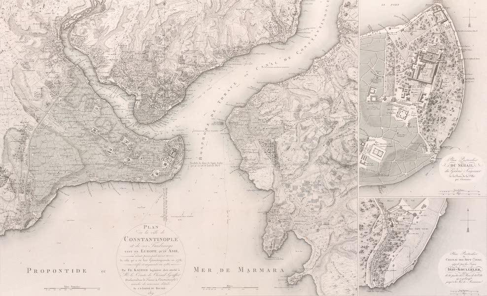 Voyage Pittoresque de Constantinople et des Rives du Bosphore Vol. 2 - Plan de la ville de Constantinople et de ses faubourgs (1819)