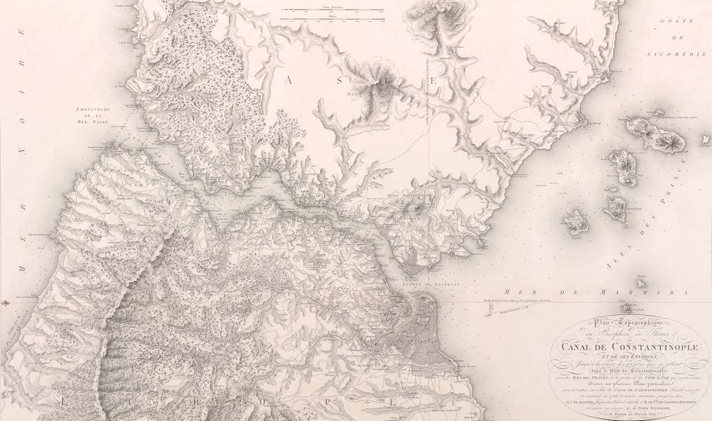 Voyage Pittoresque de Constantinople et des Rives du Bosphore Vol. 2 - Plan topographique du Bosphore de Thrace, ou canal de Constantinople, et de ses environs (1819)