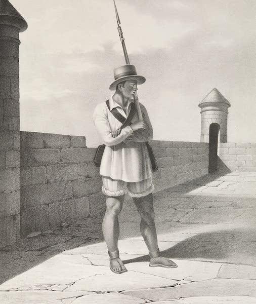 Voyage Pittoresque et Archeologique dans la Province d'Yucatan - Costume des Soldats de la Milice (1838)