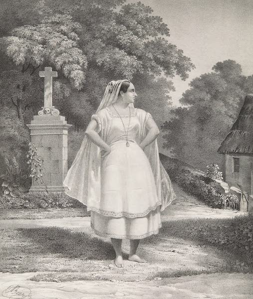 Voyage Pittoresque et Archeologique dans la Province d'Yucatan - Costume des Femmes Metis a Merida (1838)