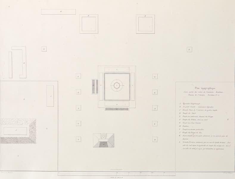Voyage Pittoresque et Archeologique dans la Province d'Yucatan - Carte et Plan d'une partie des ruines d'Ytzalane (1838)