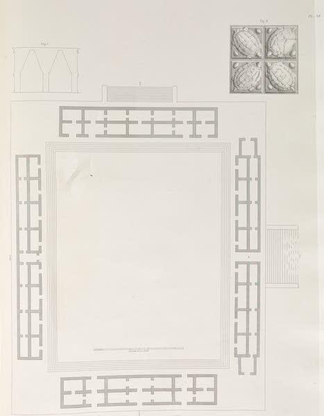 Voyage Pittoresque et Archeologique dans la Province d'Yucatan - Plan du Grand Carre des Quatre Temples (1838)