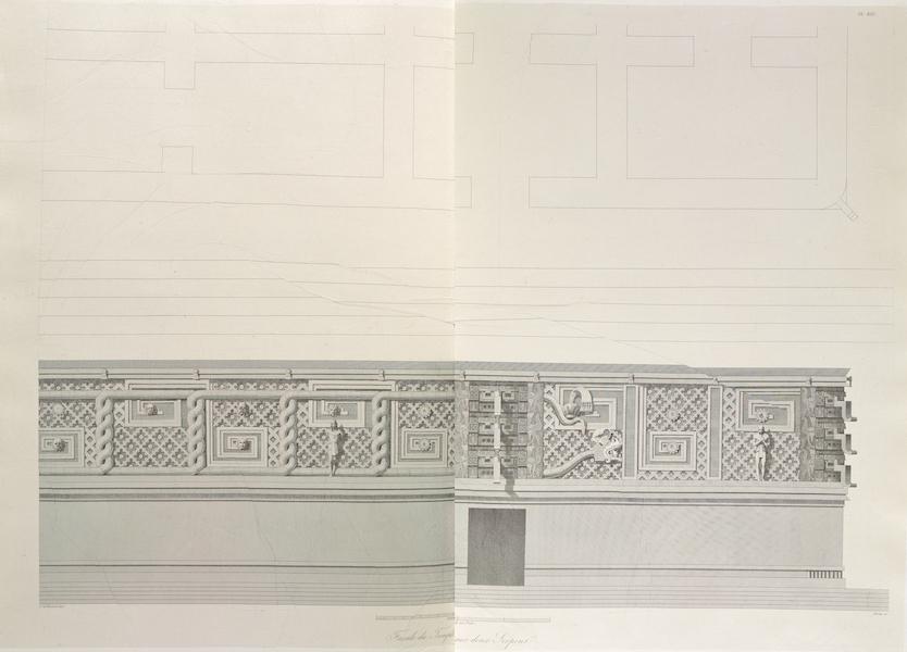 Voyage Pittoresque et Archeologique dans la Province d'Yucatan - Facade du Temple aux Deux Serpents (1838)