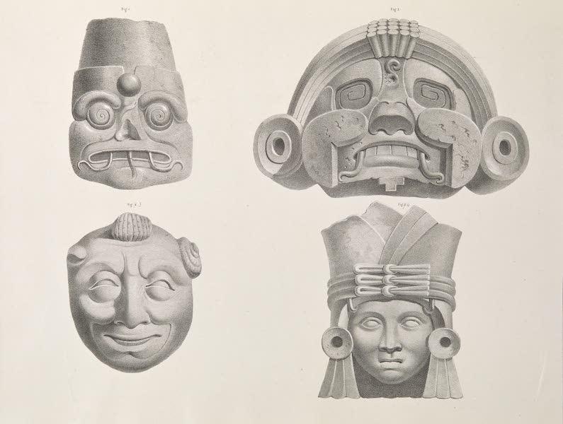 Voyage Pittoresque et Archeologique dans la Province d'Yucatan - Mascarons (1838)