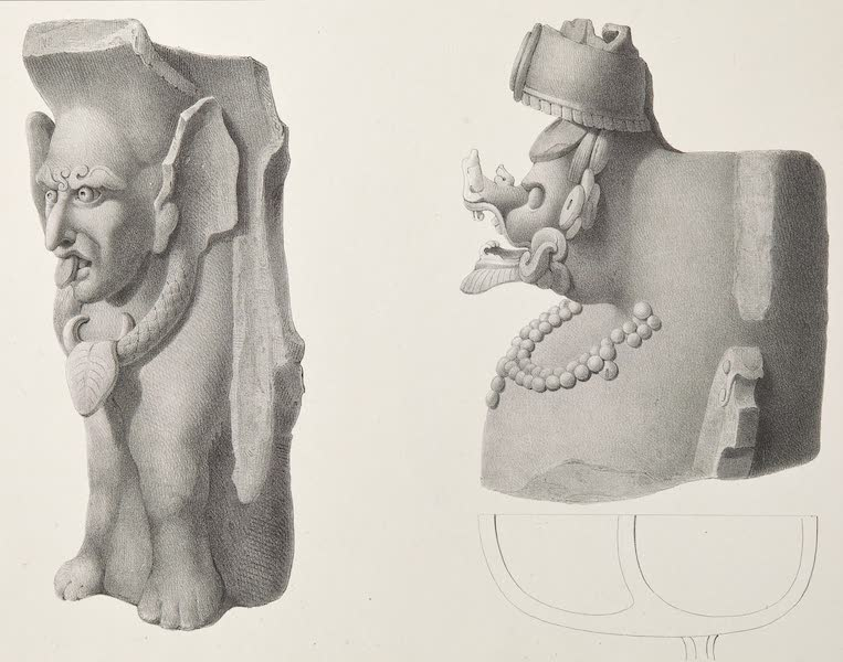Voyage Pittoresque et Archeologique dans la Province d'Yucatan - Idoles et Vases en Terre Cuite [I] (1838)
