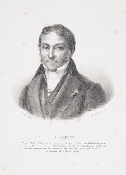 Voyage Pittoresque et Historique au Bresil Vol. 1 - Portrait of Jean-Baptiste Debret (1834)