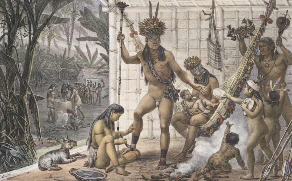 Voyage Pittoresque et Historique au Bresil Vol. 1 - Famille d'un Chef Camacan se preparant pour une fete (1834)