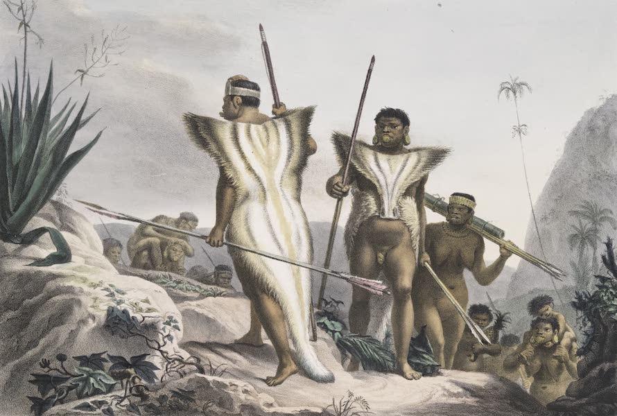 Voyage Pittoresque et Historique au Bresil Vol. 1 - Famille de Botocoudos en marche (1834)