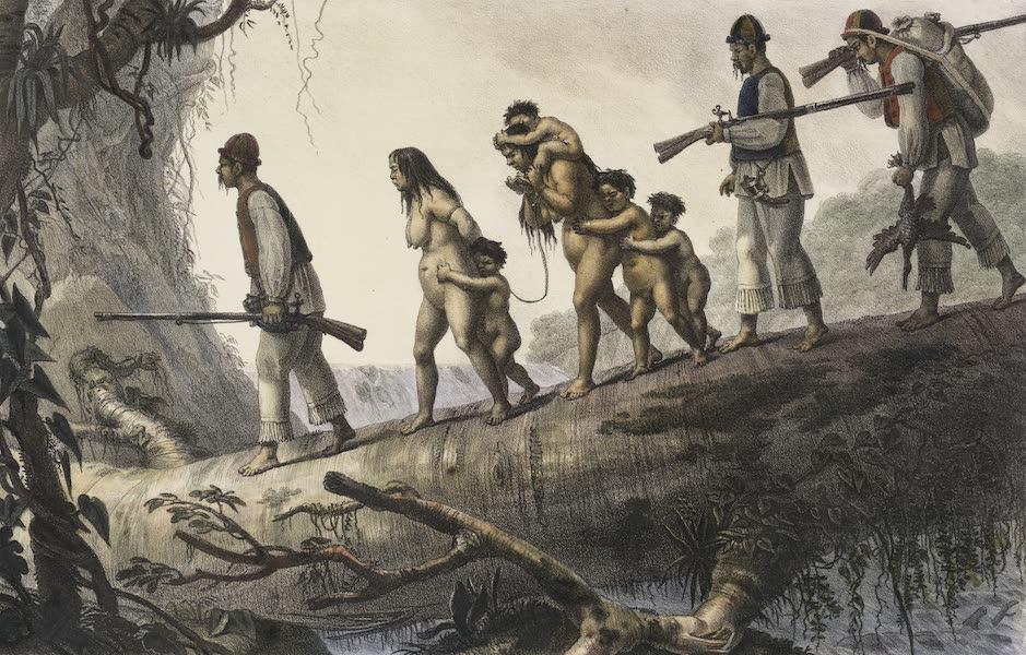 Voyage Pittoresque et Historique au Bresil Vol. 1 - Sauvages Civilises Sopldats Indiens de la Province de la Coritiba Ramenant des Sauvages Prisonnieres (1834)