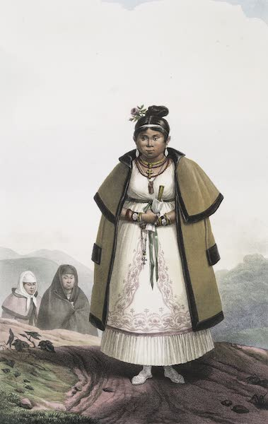 Voyage Pittoresque et Historique au Bresil Vol. 1 - Femmes Gouaranis Civilises allant a la Messe le Dimanche  (1834)