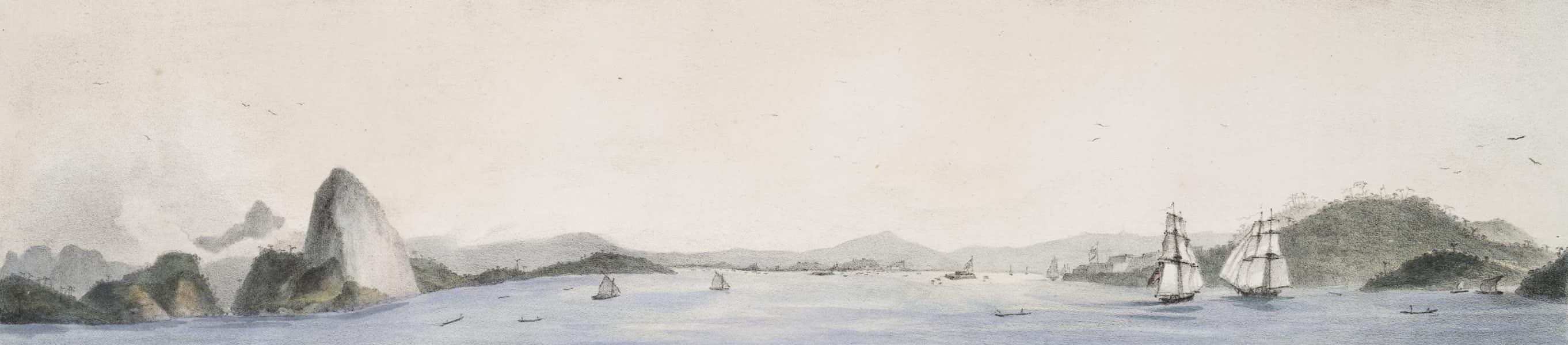 Voyage Pittoresque et Historique au Bresil Vol. 2 - Vue de l'Entree de la Baie de Rio de Janeiro (1835)