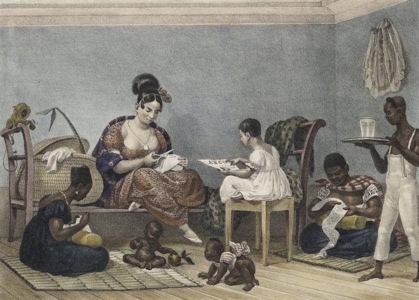 Voyage Pittoresque et Historique au Bresil Vol. 2 - Une dame Brésilienne dans son interieur (1835)