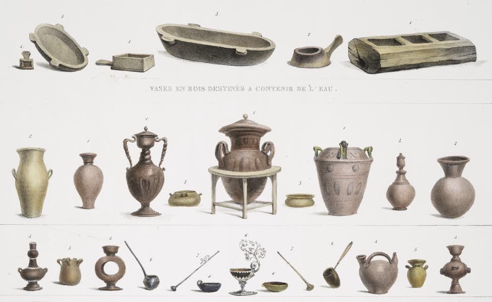 Voyage Pittoresque et Historique au Bresil Vol. 2 - Vases en Bois destines a contenir de l'eau / Vases faits en terre cuite destines au meme usage (1835)