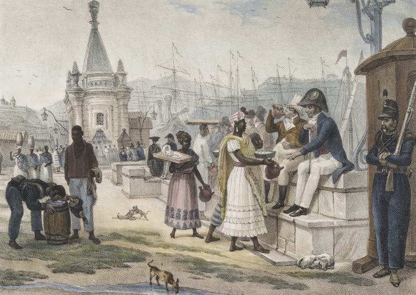 Voyage Pittoresque et Historique au Bresil Vol. 2 - Les rafraichissemens de l'apres Diner sur la Place du Palais (1835)