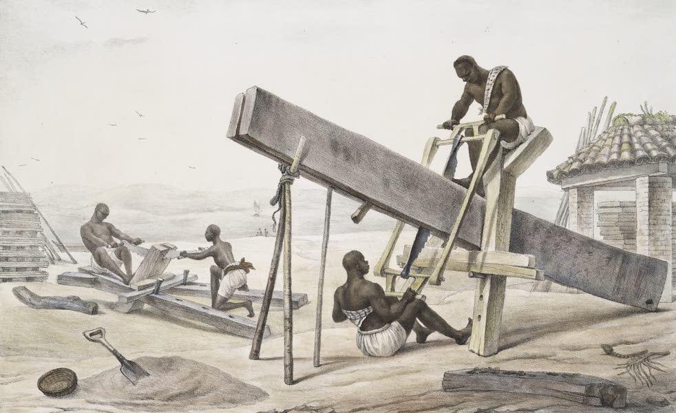 Voyage Pittoresque et Historique au Bresil Vol. 2 - Negres Scieurs de Long (1835)