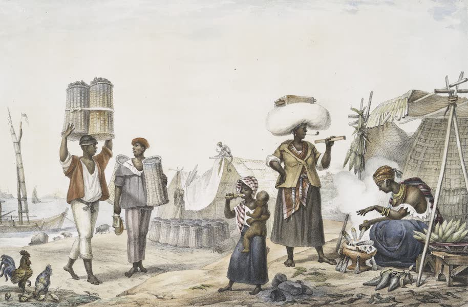 Voyage Pittoresque et Historique au Bresil Vol. 2 - Negres Vendeurs de Charbon / Vendeuses de Plied de Turquie (1835)