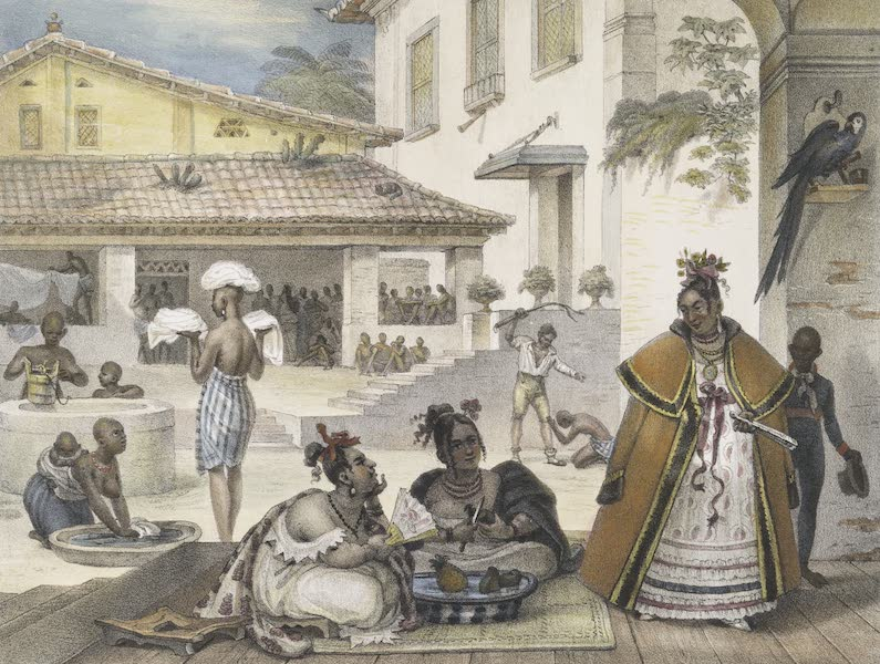 Voyage Pittoresque et Historique au Bresil Vol. 2 - Intérieur d'une habitation de Cigannos (1835)