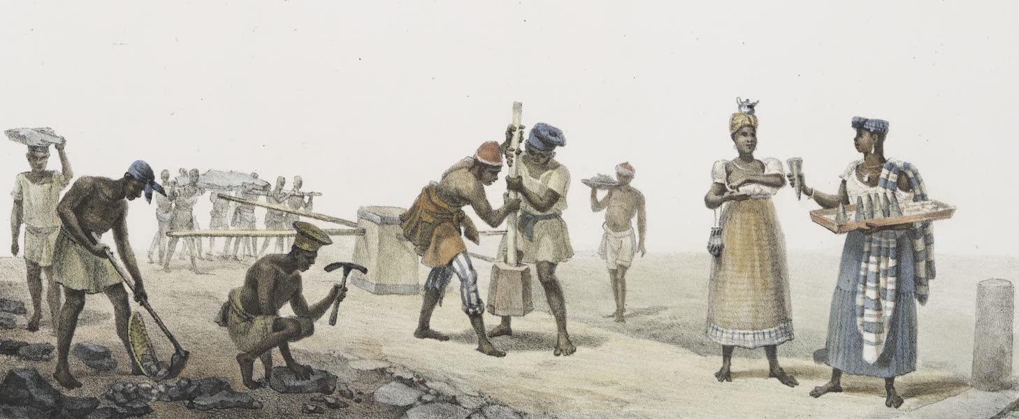 Voyage Pittoresque et Historique au Bresil Vol. 2 - Paveurs / Marchande d'atacaca (1835)