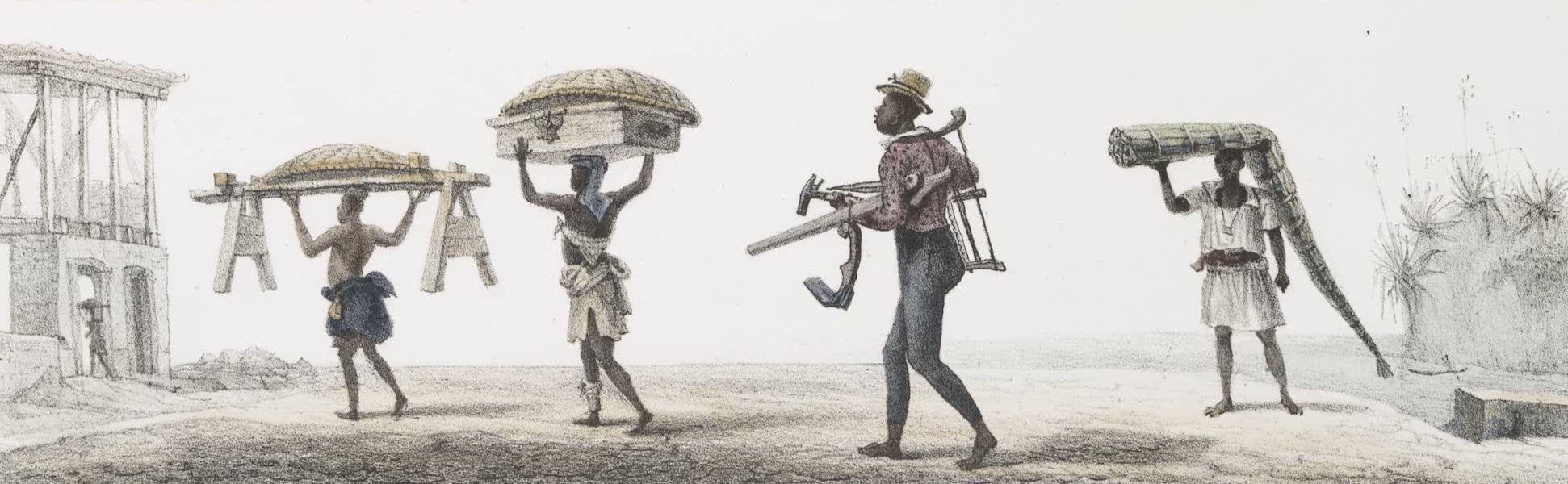 Voyage Pittoresque et Historique au Bresil Vol. 2 - Menuisier allant s'installer Transport de Feuilles d'Aloes (1835)