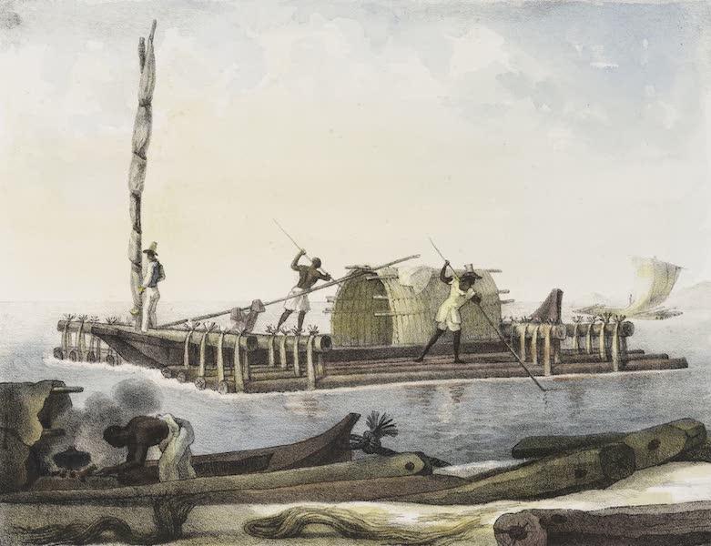 Voyage Pittoresque et Historique au Bresil Vol. 2 - Radeau de Bois de construction (1835)