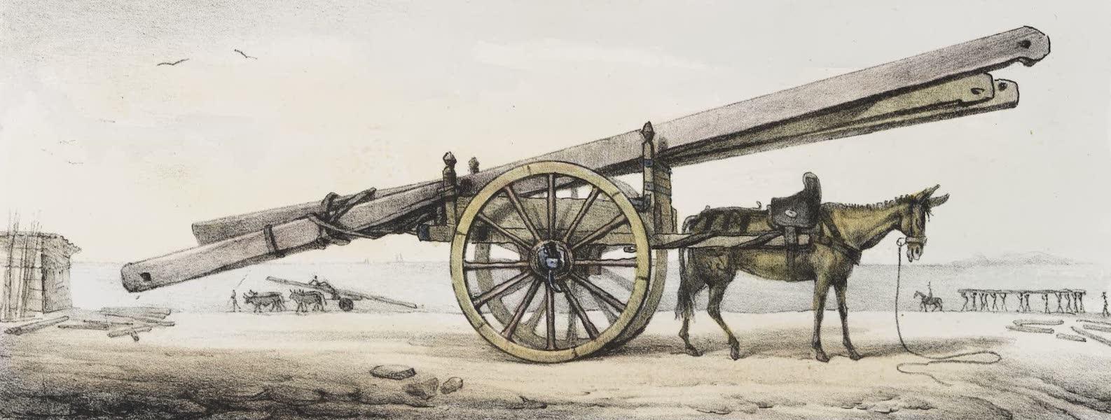 Voyage Pittoresque et Historique au Bresil Vol. 2 - Charroi de Bois de Charpente (1835)