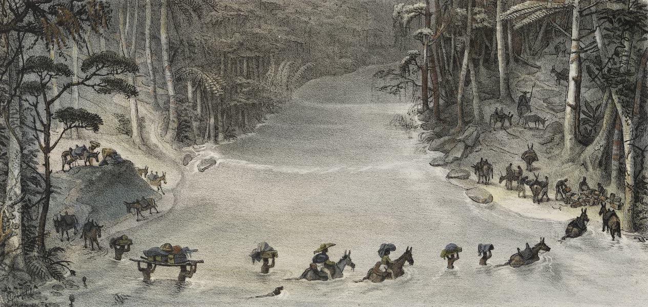 Voyage Pittoresque et Historique au Bresil Vol. 2 - Passage d'une Riviere Guéable (1835)