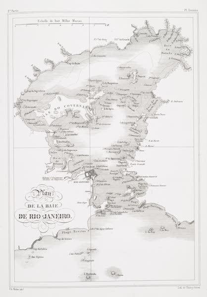 Voyage Pittoresque et Historique au Bresil Vol. 2 - Plan de la Baie de Rio Janeiro (1835)