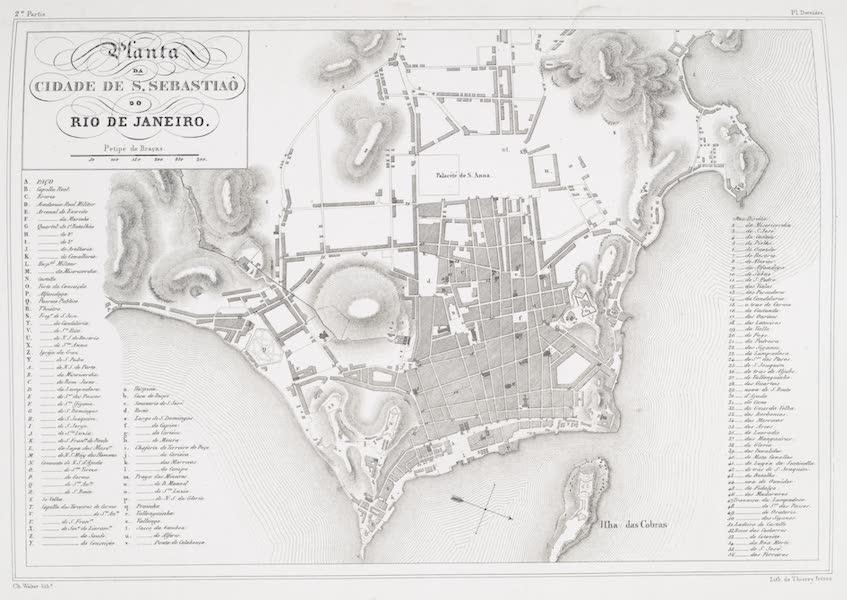 Voyage Pittoresque et Historique au Bresil Vol. 2 - Planta de Cidade de S. Sebastiao de Rio de Janeiro (1835)