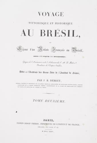 Natural History - Voyage Pittoresque et Historique au Bresil Vol. 2
