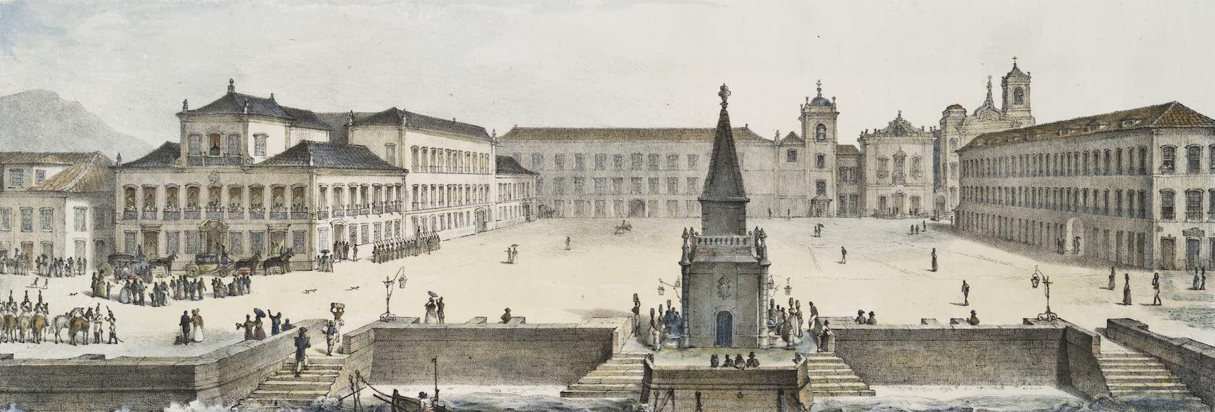 Voyage Pittoresque et Historique au Bresil Vol. 3 - Vue de la Place du Palais a Rio de Janeiro (1839)