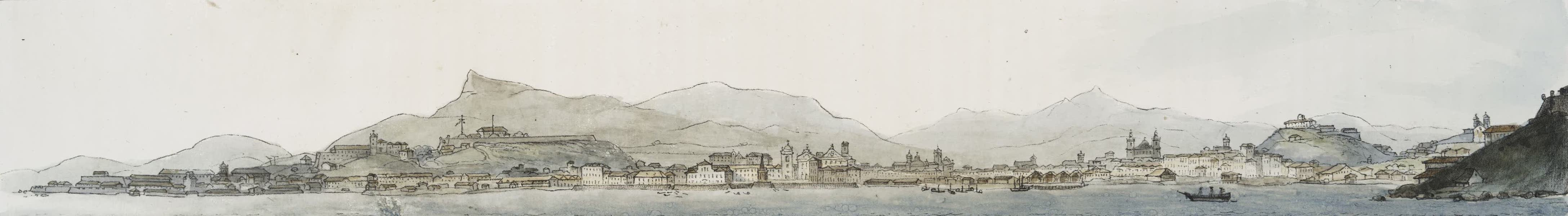 Voyage Pittoresque et Historique au Bresil Vol. 3 - Vue generale de la Ville, du cote de la Mer (1839)