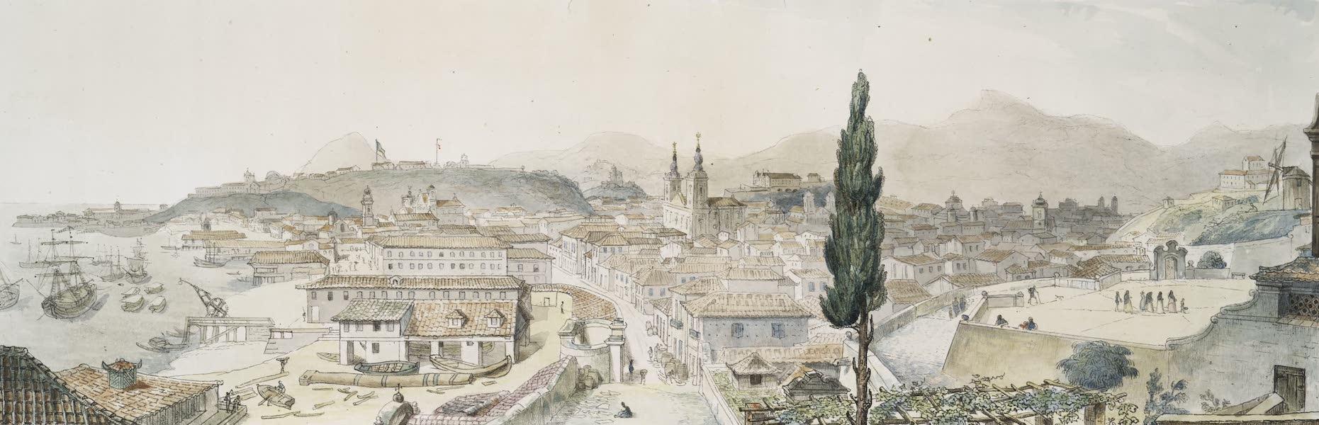 Voyage Pittoresque et Historique au Bresil Vol. 3 - Vue générale de la Ville de Rio de Janeiro prise du Couvent de St. Bento (1839)