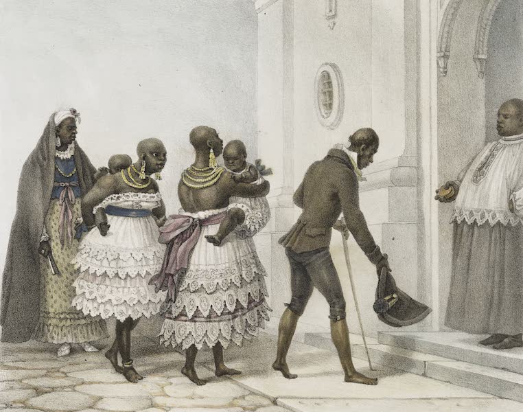 Voyage Pittoresque et Historique au Bresil Vol. 3 - Negresses allant a l'eglise, pour être Baptisees (1839)