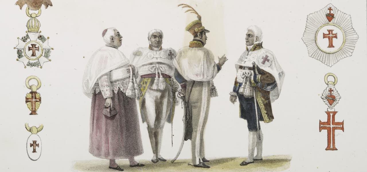 Voyage Pittoresque et Historique au Bresil Vol. 3 - Chevaliers du Christ, en grand costume de l'ordre (1839)