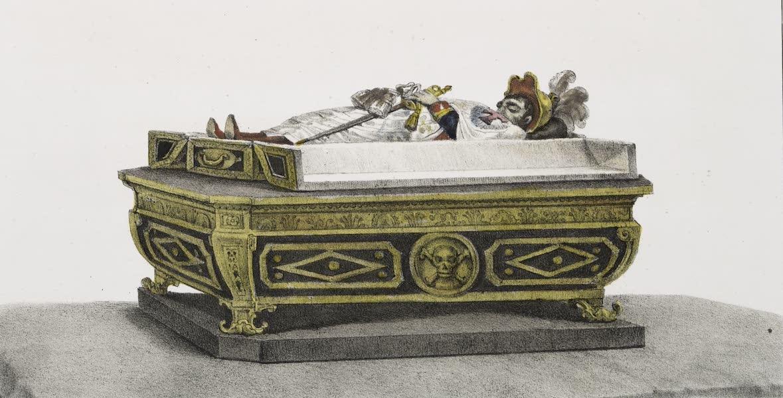 Voyage Pittoresque et Historique au Bresil Vol. 3 - Chevalier du Christ expose dans son cercueil ouvert (1839)