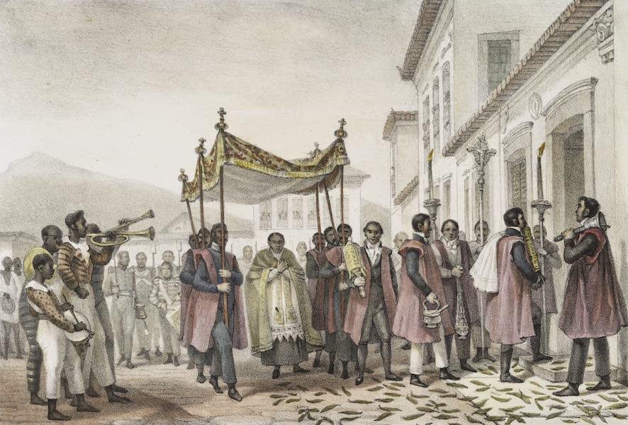 Voyage Pittoresque et Historique au Bresil Vol. 3 - Le St. Viatique Porte chez un malade (1839)