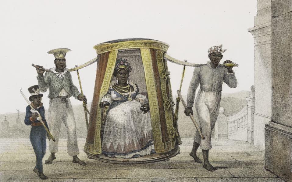 Voyage Pittoresque et Historique au Bresil Vol. 3 - Transport d'un enfant blanc, pour être Baptise a l'église (1839)